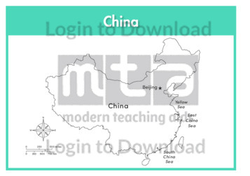 China (labelled outline)
