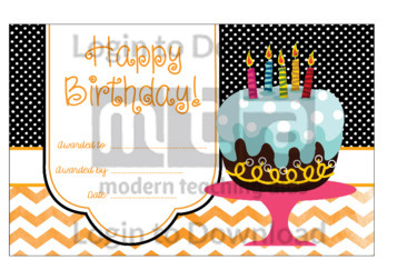 Happy Birthday! 5