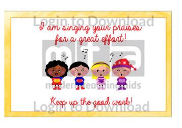 I am singing your praises!