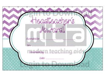 Head Teacher's Award