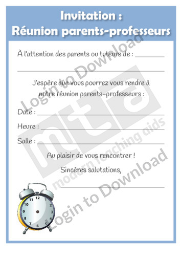 Parent meeting letter northurthwall lesson zone au invitation parent teacher conference stopboris Image collections