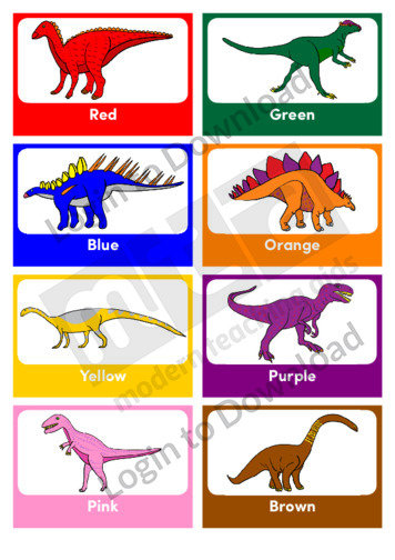 Colour Dinosaurs