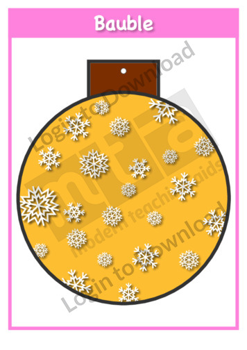 Christmas Baubles: Snowflakes