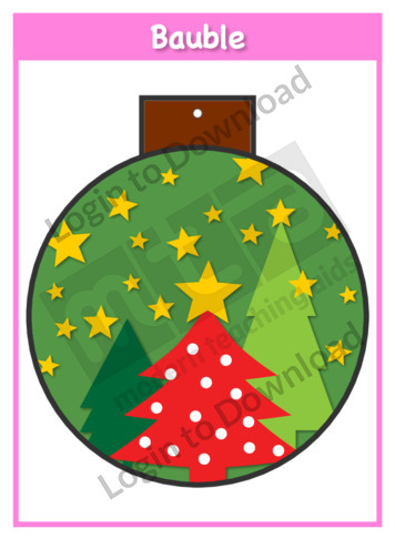 Christmas Baubles: Stars and Trees