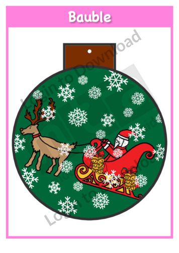Christmas Baubles: Santa and Sleigh