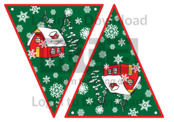 Christmas Bunting: Snow Cottage