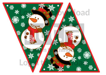 Christmas Bunting: Snowman