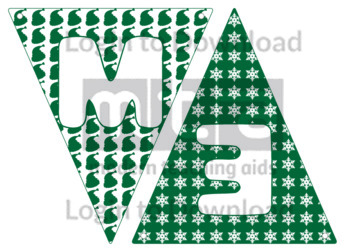 Christmas Letters Bunting: Green