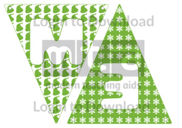 Christmas Letters Bunting: Light Green