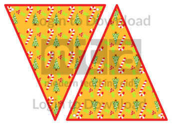 Christmas Bunting: Trees and Candy Canes