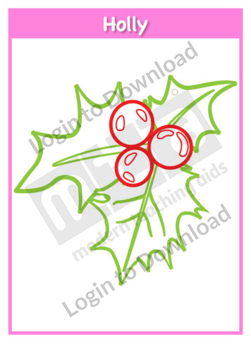 Christmas Holly Template