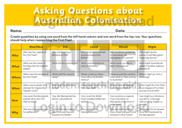 Lesson Zone AU - Asking Questions about Australian Colonisation