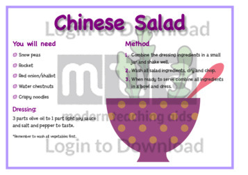 February Recipe: Chinese Salad