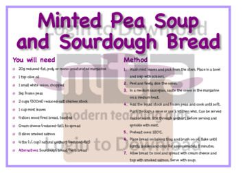 March Recipe: Minted Pea Soup and Sourdough Bread