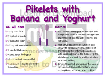 May Recipe: Pikelets with Banana and Yoghurt