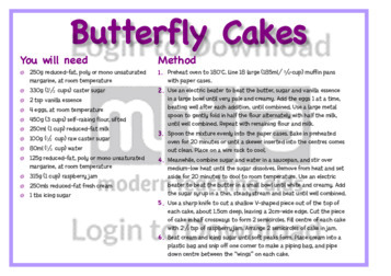 June Recipe: Butterfly Cakes