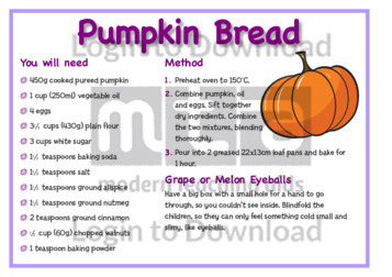 October Recipe: Pumpkin Bread