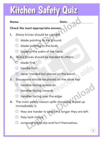 Kitchen Safety Quiz
