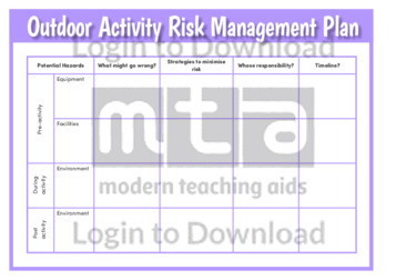 Outdoor Activity Risk Management Plan
