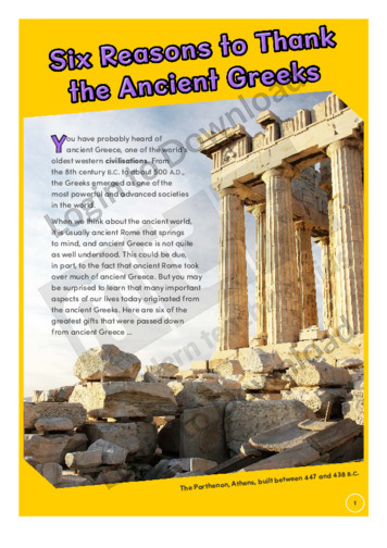 Six Reasons to Thank the Ancient Greeks