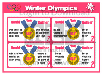 Winter Olympics Would You Rather