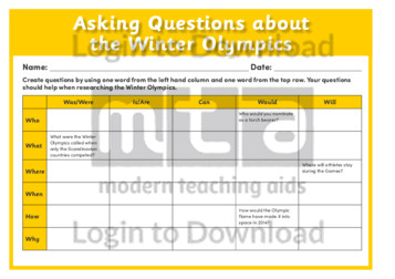 Asking Questions about the Winter Olympics