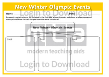 New Winter Olympic Events