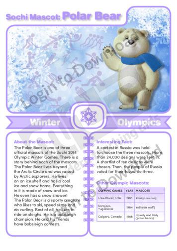 Sochi Mascot: Polar Bear