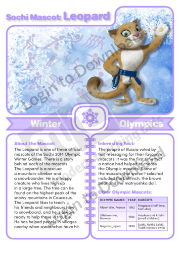 Sochi Mascot: Leopard