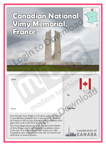 Canadian National Vimy Memorial, France