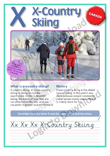 X: X-Country Skiing