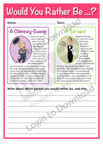 Would You Rather Be…? A Chimney-Sweep or a Servant
