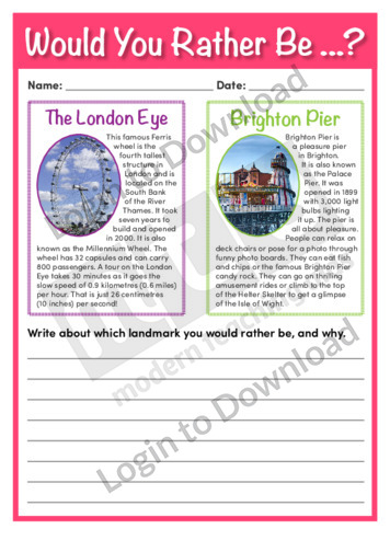 Would You Rather Be…? The London Eye or Brighton Pier
