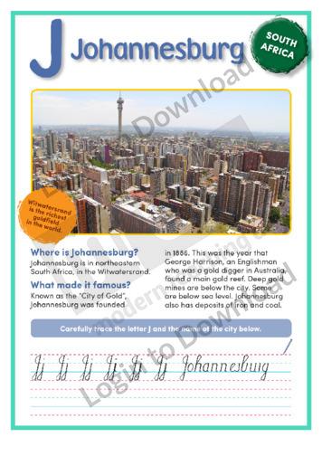 J: Johannesburg