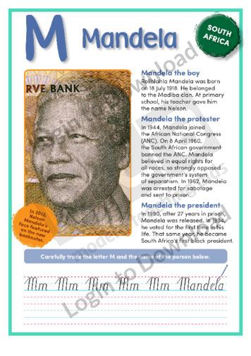 M: Mandela