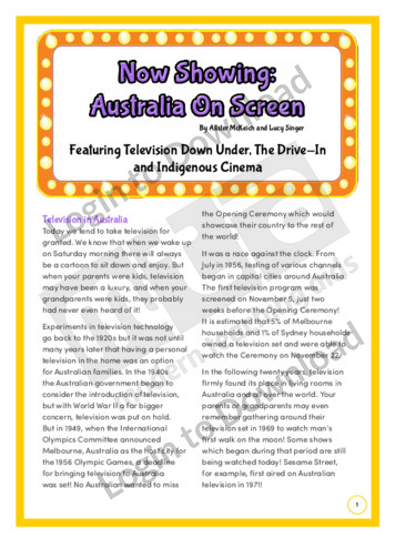 Now Showing: Australia on Screen