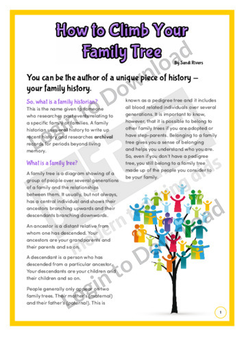 How to Climb Your Family Tree