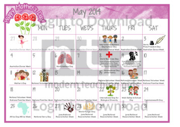 May Calendar With Events : May calendar of events w top