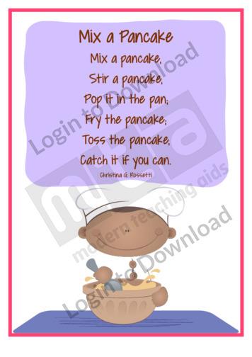 Pancake Poems: Mix a Pancake
