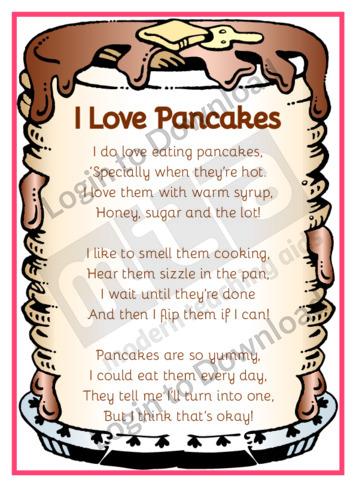 Pancake Poems: I Love Pancakes