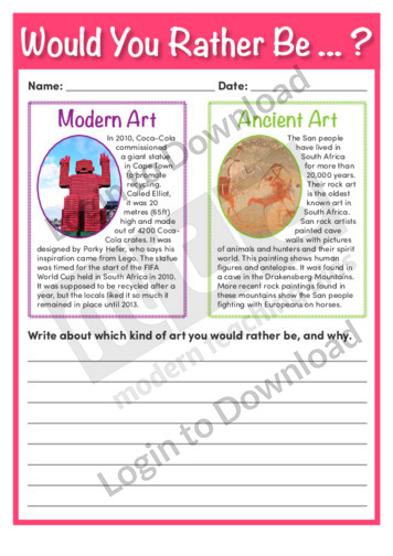 Would You Rather Be…? Modern Art or Ancient Art