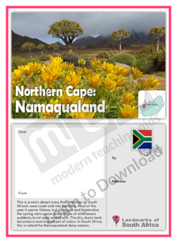 Northern Cape: Namaqualand