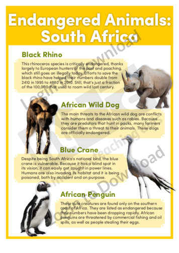 Endangered Animals: South Africa