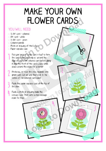 Make Your Own Flower Cards