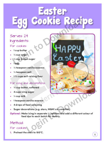 Easter Egg Cookie Recipe