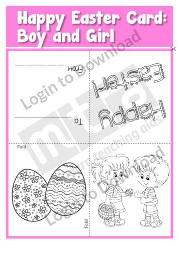 Happy Easter Card: Boy and Girl