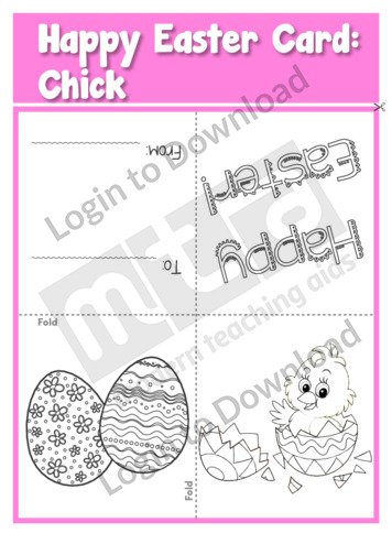 Happy Easter Card: Chick