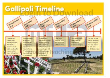 Lesson Zone AU - Gallipoli Timeline Zoo Animals Toys