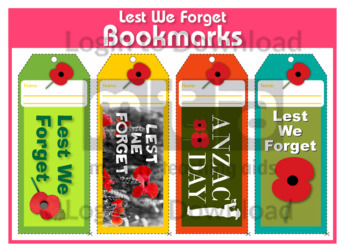 Lest We Forget Bookmarks