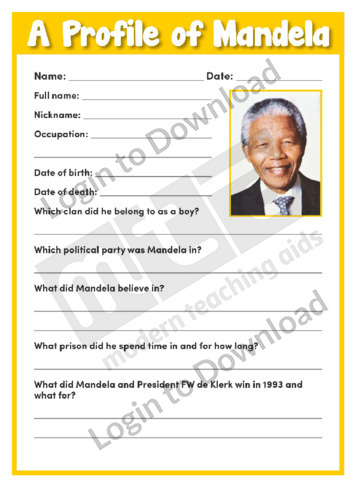 A Profile of Mandela